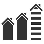 Realty Trend Flat Vector Icon Stock Illustration