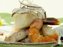 Caribbean Shrimp and Halibut in a Coconut Sauce Kuvituskuvat