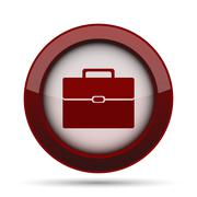 Briefcase icon. Internet button on white background. . Stock Illustration