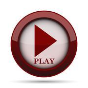 Play icon. Internet button on white background. . Stock Illustration