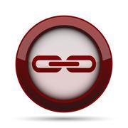 Link icon. Internet button on white background. . Stock Illustration