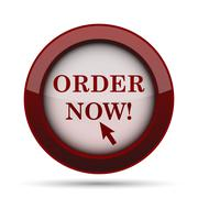 Order now icon. Internet button on white background. . Stock Illustration