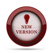 New version icon. Internet button on white background. . Stock Illustration