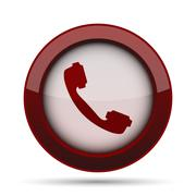 Phone icon. Internet button on white background. . Stock Illustration