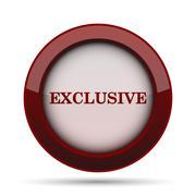 Exclusive icon. Internet button on white background. . Stock Illustration
