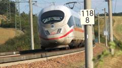 ICE highspeed train Stock Footage