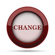 Change icon. Internet button on white background. . Stock Illustration