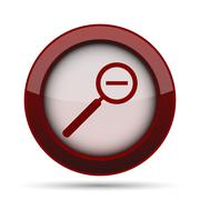 Zoom out icon. Internet button on white background. . Stock Illustration