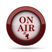 On air icon. Internet button on white background. . Stock Illustration