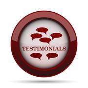 Testimonials icon. Internet button on white background. . Stock Illustration