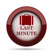 Last minute icon. Internet button on white background. . Stock Illustration
