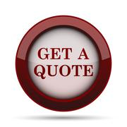 Get a quote icon. Internet button on white background. . Stock Illustration