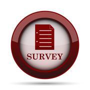 Survey icon. Internet button on white background. . Stock Illustration