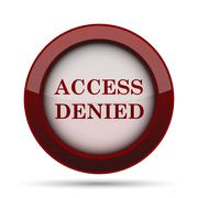 Access denied icon. Internet button on white background. . Stock Illustration