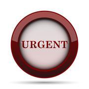 Urgent icon. Internet button on white background. . Stock Illustration