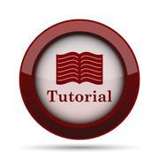 Tutorial icon. Internet button on white background. . Stock Illustration