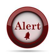 Alert icon. Internet button on white background. . Stock Illustration