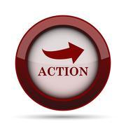 Action icon. Internet button on white background. . Stock Illustration