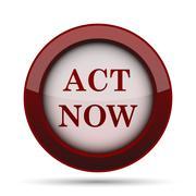 Act now icon. Internet button on white background. . Stock Illustration