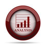 Analysis icon. Internet button on white background. . Stock Illustration