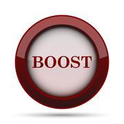 Boost icon. Internet button on white background. . Stock Illustration