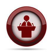 Speaker icon. Internet button on white background. . Stock Illustration