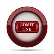 Admin one ticket icon. Internet button on white background. . Stock Illustration