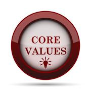 Core values icon. Internet button on white background. . Stock Illustration