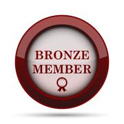 Bronze member icon. Internet button on white background. . Stock Illustration