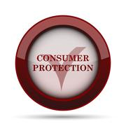 Consumer protection icon. Internet button on white background. . Stock Illustration