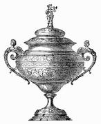 Festive punch-bowl (illustration) Stock Illustration