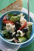 Greek salad with white bread Kuvituskuvat