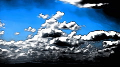 Clouds Timelapse Seamless Loop Abstract Art Animation Stock Footage