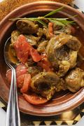 Veal tajine with tomatoes (N. Africa) Stock Photos