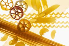 Various types of pasta Stock Photos
