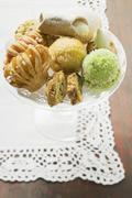 Assorted small pastries Stock Photos