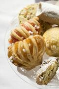 Assorted small pastries (cantucci, jam pastries etc.) Stock Photos