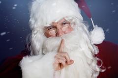 Santa Shhh Stock Photos