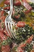 Oven-baked chard and tomatoes Stock Photos