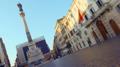 The Column of the Immaculate Conception, Rome, Italy Stock Footage