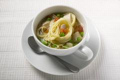 Noodle soup with chicken and vegetables Stock Photos