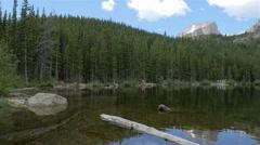 Wide Pan of Bear Lake in Estes Park Colorado Stock Footage