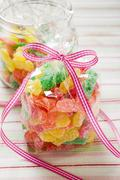 Sour Sweets (fruity jelly sweets, USA) Stock Photos