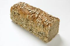 Wholemeal bread with sunflower seeds Stock Photos