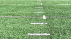 Run down football field Stock Footage