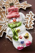Christmas tree ornament (Snowman) Stock Photos