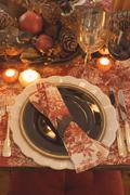 Festive place-setting for Thanksgiving (USA) Kuvituskuvat