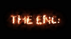 The Words THE END Lighting Up in Flames and Burning Stock Footage