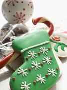 Assorted Christmas biscuits and sweets Stock Photos