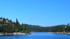 Beautiful day in Lake Arrowhead California Stock Footage